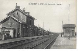 44 - MONTOIR DE BRETAGNE - T.Belle Vue Animée De La Gare - Other Municipalities