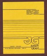 BUVARD - JOSEPH GIBERT . LIBRAIRIE PAPETERIE .   - 2 Scannes. - Stationeries (flat Articles)