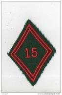 MILITARIA . ÉCUSSON DE BRAS TISSU LOSANGE . 15e R.C.S. RÉGIMENT DU TRAIN - Réf. N°75TI -- - Patches