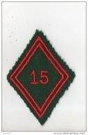 MILITARIA . ÉCUSSON DE BRAS TISSU LOSANGE . 15e R.C.S. RÉGIMENT DU TRAIN - Réf. N°76TI - - Patches