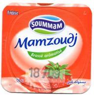 "Opercule Cover Yaourt Yogurt "" Soummam "" MAMZOUDJ Fraise Strawberry Yoghurt Yoghourt Yahourt Yogourt - Opercules De Lait"