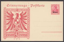 """Etappe West, Mi-Nr. PP2, """"Erinnerungs-Postkarte"""", Deutschland-Belgien Mit Adler, * - Besetzungen 1914-18"""