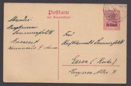 """Rumänien GS, Mi-Nr. P2, Kplt. Doppelkarte Mit Text Nach Deutschland """"Bukarest"""", 10.8.17, O - Besetzungen 1914-18"""