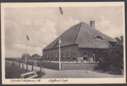 """""""ostseebad Wustow"""", Festland Cafe, Foto-AK Mit Hakenkreuz-Fahnen, 1951, Unbeanstandet Gelaufen, Bedarf - Briefe U. Dokumente"""