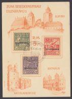 Mi-Nr. IV/VI, Eilenburg: Spendenkarte Mit Pass. Sst. - Sowjetische Zone (SBZ)