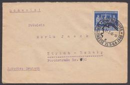 """Mi-Nr. 970, EF Auf Bedarfsbrief In Die Schweiz, Sst """"Hannover-Messe"""" - Gemeinschaftsausgaben"""