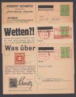 "GS, Mi-Nr. P950, 3 Versch. Zudruckkarten ""Schmitz/Großbieberau"", Angebot Nr. 15, 25 Und Selteneres 31, O - Gemeinschaftsausgaben"