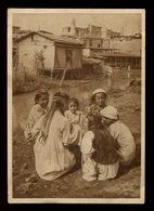Old Tashkent Uzbek Girls Pigtails Caps Uzbekistan Turkestan Central Asia RARE - Uzbekistan