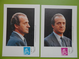 1985-MAXIMA--SERIE COMPLETA-S.M. DON JUAN CARLOS I-8 TARJETAS - Tarjetas Máxima