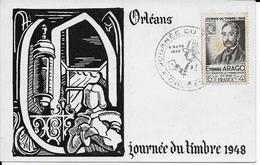 Cpa Journée Du Timbre 1948- Orléans- édition JACQUES LAFITTE - Cartes-Maximum