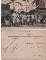 1913 Carte Postale Animée Tirailleurs Cambodgiens à Siem-Réap (Cambodge) - Cambodia