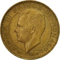 Monnaie, Monaco, Rainier III, 10 Francs, 1950, TB+, Aluminum-Bronze - Monaco