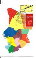 TCHAD + Cachet 1er Jour FORT LAMY - Tchad