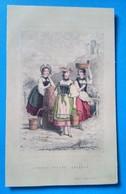 Jeunes Filles Suisses Imp D'Aubert, Litho Ancienne - Lithographies