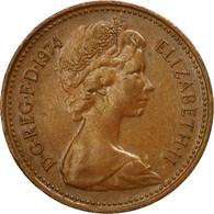 Monnaie, Grande-Bretagne, Elizabeth II, New Penny, 1974, TB+, Bronze, KM:915 - 1971-… : Monnaies Décimales