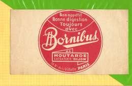 Buvard . Blotting Paper : Moutardes BORNIBUS  DE DIJON - Mostard