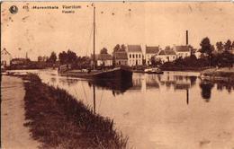 2 Oude Postkaarten    Herentals  DE Bovenrij   Vaartkom Lichter Scheepvaart Uitgever De Clerck - De Kock - Herentals