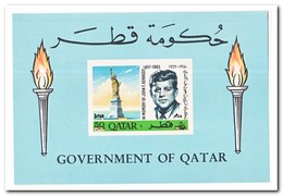 Qatar 1966, Postfris MNH, John F. Kennedy ( Block With Overprint ) - Qatar