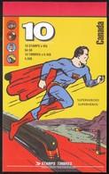 Canada 1995 / Superherioes, Comics / Superman, Jonny Canuk, Nelvana, Captain Canuck, Fleur De Lys / MNH Booklet, Carnet - Fairy Tales, Popular Stories & Legends