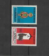 Peru 1968 12TH ANNIV. PERUVIAN AIRLINES 2 VALUES COMPLETE.  INCA MESSENGER, REGIONAL COSTUME, ALPACA MI699/700 - Peru