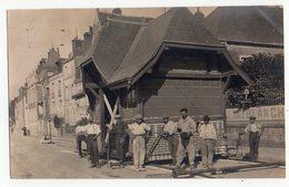 AMBOISE Exceptionnel Déplacement De La Gare Du Tramway Electrique D'Amboise   CARTE PHOTO  3 Scans - Amboise