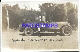 97477 AUTOMOBILE CAR AUTO SEDAN CONVERTIBLE AND MAN YEAR 1926 POSTAL POSTCARD - Non Classés