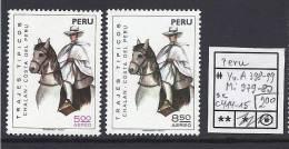 Peru - Pérou - Horse - Cheval - Trajes Tipicos - Yv A398-399 - Mi 979-980 - Sc C414-415 - MNH - Postfrisch - Neuf ** - Pérou