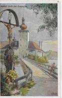 AK 0003  Schloss Orth Bei Gmunden  - Künstlerkarte Von Lofecker Um 1910-20 - Gmunden