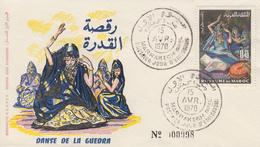 Enveloppe  FDC  1er  Jour  MAROC   Danse  De  La  Guedra   1970 - Marocco (1956-...)