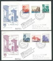 1966 SAN MARINO FDC CAPITOLIUM VEDUTE TIMBRO ARRIVO - KS21 - FDC