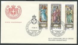 1974 SMOM FDC NATALE TIMBRO ARRIVO - KM1 - Malte (Ordre De)
