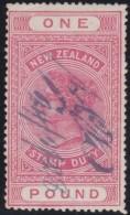 NZ    .     YVERT    .     Taxe    17      .        O  .         Cancelled      .   /   .      Gebruikt - Post-fiscaal