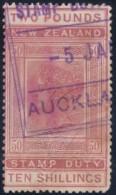 NZ    .     YVERT    .  Taxe   20   (  2 Scans )     .        O  .         Cancelled      .   /   .      Gebruikt - Fiscal-postal