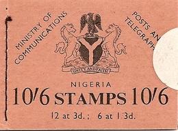 NIGERIA, 1963, Booklet 11,  2/-, Carving, Camel, Train - Nigeria (1961-...)