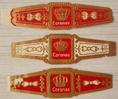 J78 Lot Bagues De Cigares  Coronas  3 Pièces - Cigar Bands