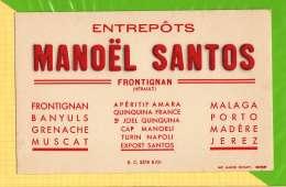 Buvard . Blotting Paper : Entrepots MANOEL SANTOS FRONTIGNAN - Liquor & Beer