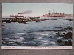 Tarjeta Postal - Chile Chili - Antofagasta - Bahia V - Boats - 4078 Mattensohn & Grimm - Valparaiso - Chile