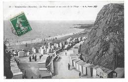 [50] Manche > Granville Le Plat Gousset Et Un Coin De La Plage 1911 Animée Cabines - Granville