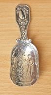 Berthold Mueller Silver Tea Caddy Spoon - Hanau UK Import Silver - German Silver 1890 - 1909. - Silverware
