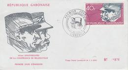 Enveloppe  FDC  1er  Jour   GABON     30éme  Anniversaire    Conférence   De   BRAZZAVILLE   1974 - Gabon