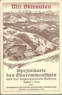 Spezialkarte Des Oberemmentals Mit Skirouten            Ca. 1940 - Geographical Maps