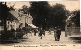 1 Oude Postkaart  MORTSEL   Oude God   Liersesteenweg Liersche Overweg - Mortsel