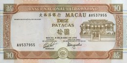 Macao 10 Patacas, P-65a (1993) - UNC - Macao