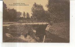 Wavrin, Pont Rustique Dans Le Marais - Francia