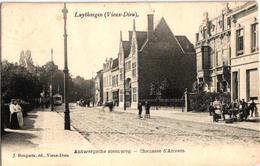 1 Oude Postkaart  MORTSEL  1907 Oude God   Luythaegen  Antwerpschee Steenweg  Uitgever Bongartz  TRAM - Mortsel