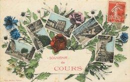 CARTE MULTIVUES  SOUVENIR DE COURS - France
