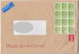 13 Fach MIF Auf ENGLAND Brief 200?, Marken Nicht Entwertet, Großes Kuvert - Luftpost & Aerogramme