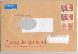 4 Fach MIF Auf ENGLAND Brief 200?, Marken Nicht Entwertet, Großes Kuvert - Luftpost & Aerogramme