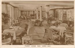 CPA-1935-PAQUEBOT-RMS QUEEN MARIE-TOURIST LOUNGE/SALON-TBE - Passagiersschepen