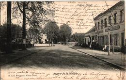 1 Oude Postkaart  MORTSEL   Overweg Trein Oude God   Stationslei  Café Anversois  Uitgever Bongartz - Mortsel